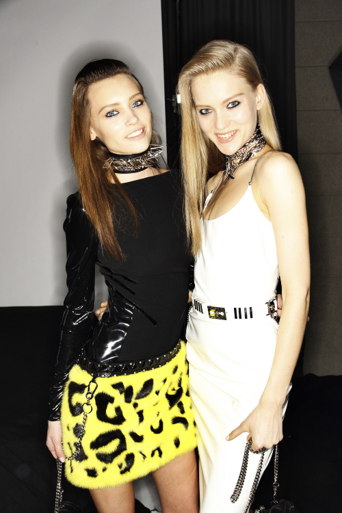 Versace AW13/14 Fashion Show Milan Backstage