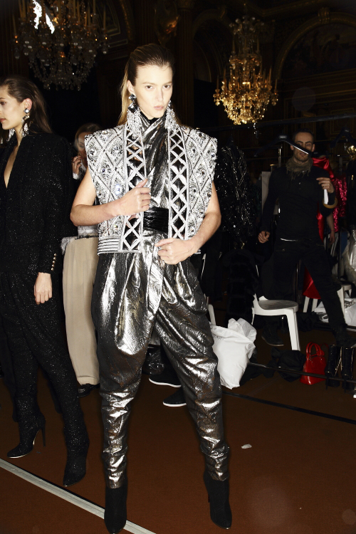 Balmain AW13/14 Fashion Show Paris Backstage