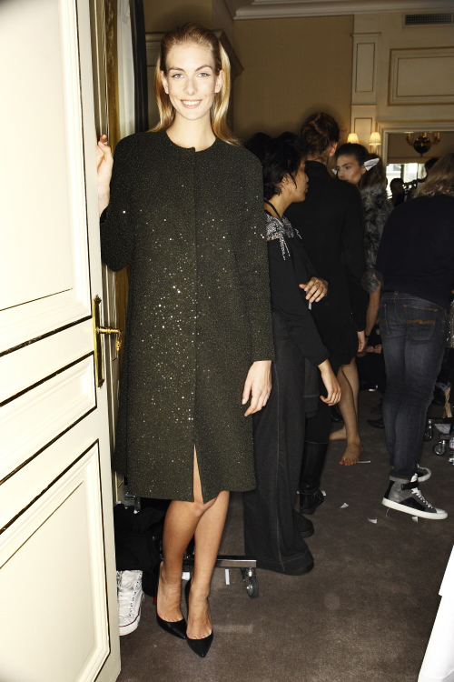 Collette Dinnigan AW13/14 Fashion Show Paris Backstage