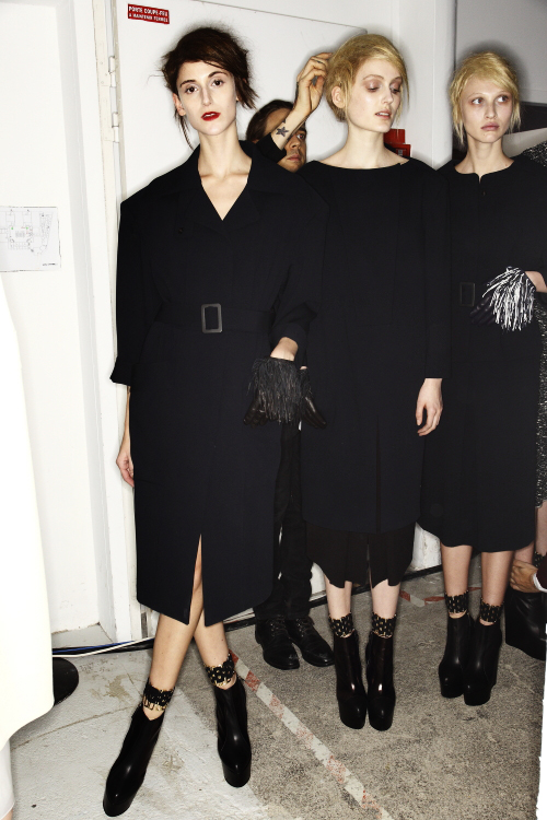 Veronique Leroy AW13/14 Fashion Show Paris Backstage