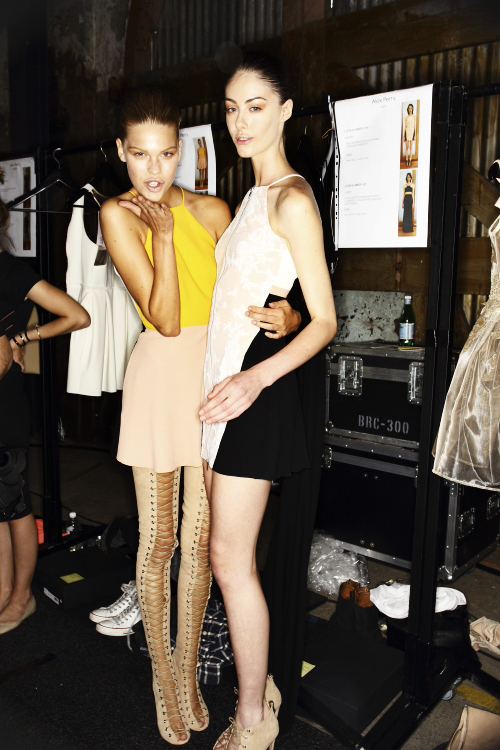 Alex Perry SS13/14 Fashion Show Sydney Backstage