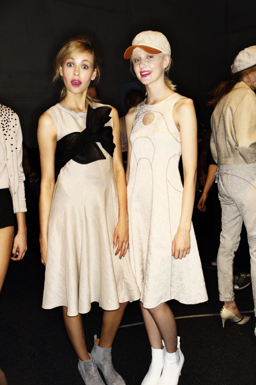 Kate Sylvester SS13/14 Fashion Show Sydney Backstage