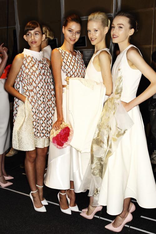 Toni Maticevski SS13/14 Fashion Show Sydney Backstage