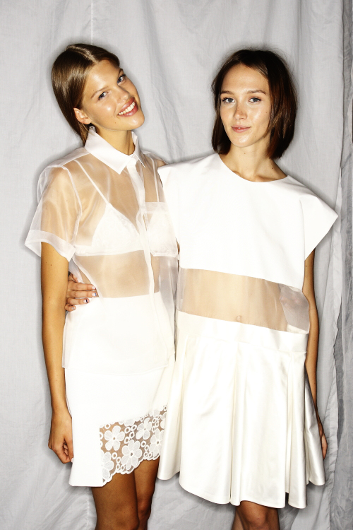 Karla Spetic SS13/14 Fashion Show Sydney Backstage