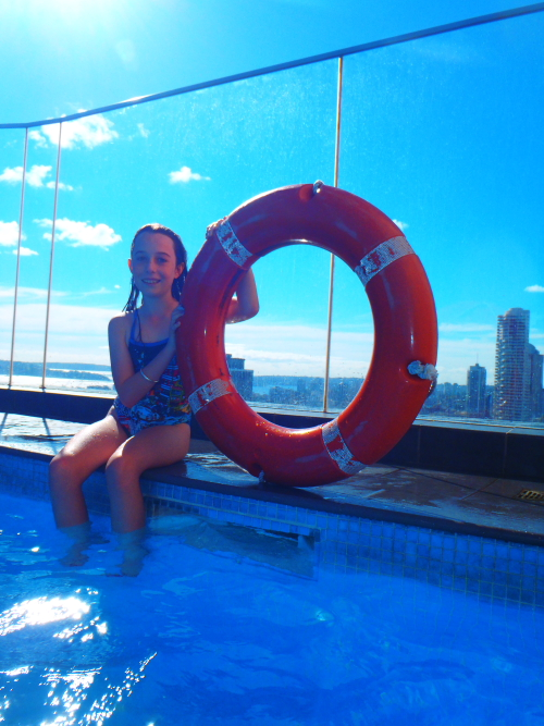 Rooftop pool at the Pullman hotel Sydney
