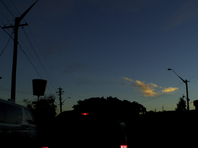 Nice Sky shots while driving in peak hour traffic Sydney