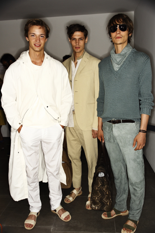 Trussardi SS14 Men Fashion Show Milan Backstage