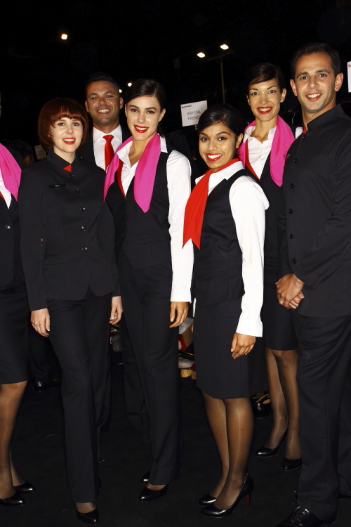 Qantas New Uniform Launch Fashion Show, Sydney, Backstage