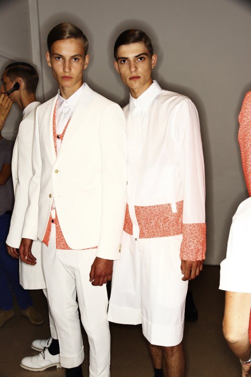Jil Sander SS14 Men Fashion Show Milan Backstage