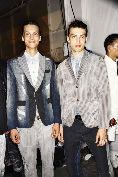 Diesel Black Gold SS14 Men Fashion Show Milan Backstage