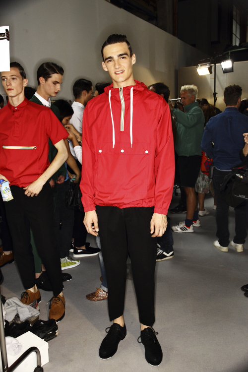 Kris Van Assche SS14 Men Fashion Show Paris Backstage