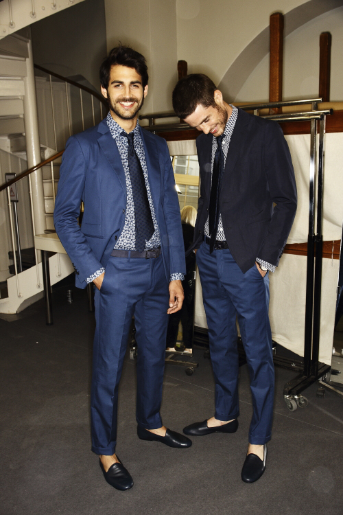 Herm�s SS14 Men Fashion Show Paris Backstage