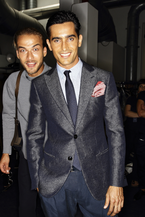 Giorgio Armani SS14 Men Fashion Show Milan Backstage