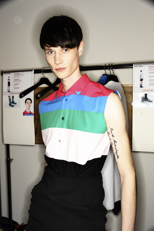 Raf Simons SS14 Men Fashion Show Paris Backstage