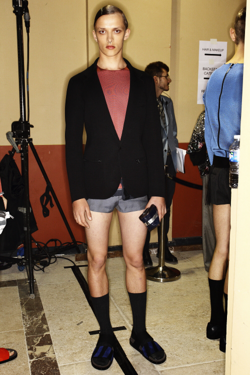 Lanvin SS14 Men Fashion Show Paris Backstage