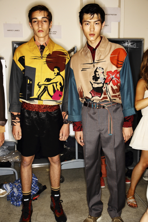 Prada SS14 Men Fashion Show Milan Backstage