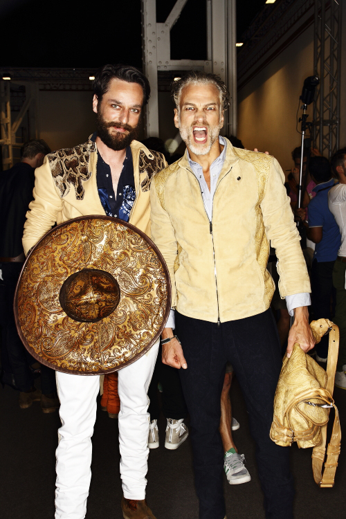 Etro SS14 Men Fashion Show Milan Backstage