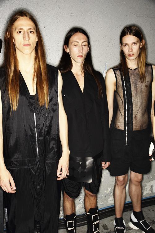 Rick Owens SS14 Men Fashion Show Paris Backstage