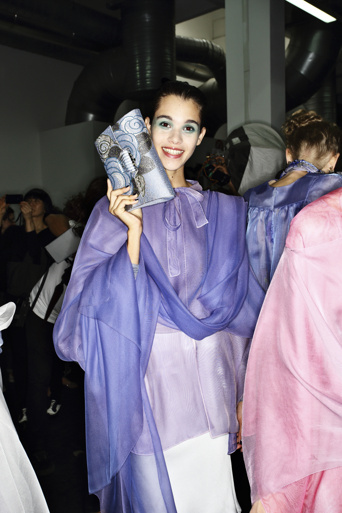 Giorgio Armani SS14 Fashion Show Milan Backstage