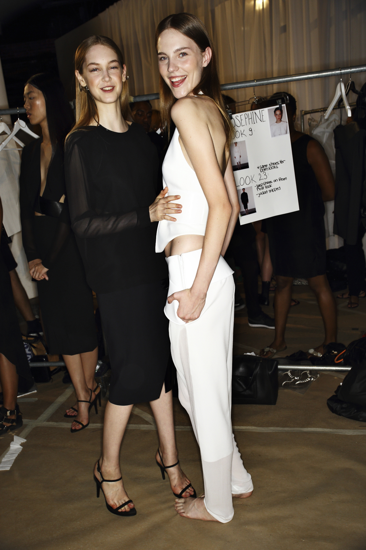 Dion Lee SS14 Fashion Show New York Backstage