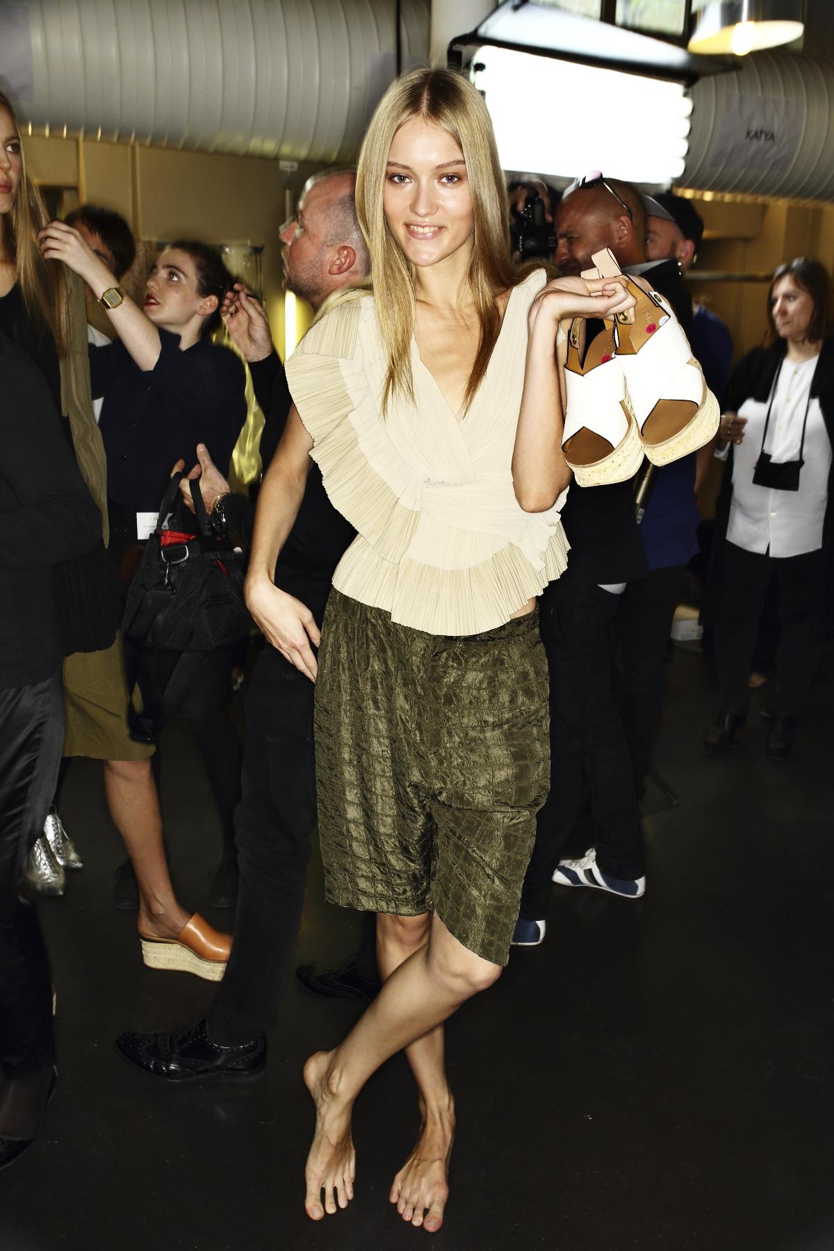 Chloe SS14 Fashion Show Paris Backstage