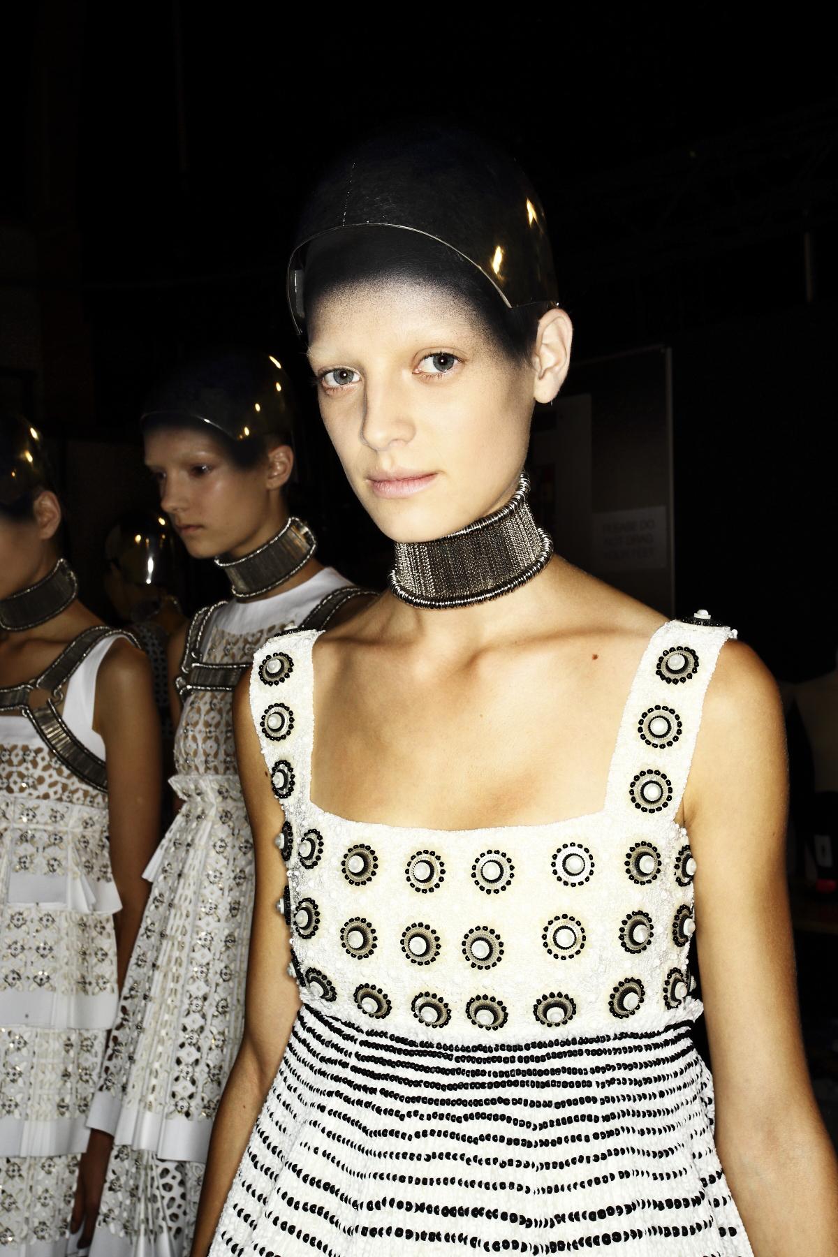 McQueen SS14 Fashion Show Paris Backstage