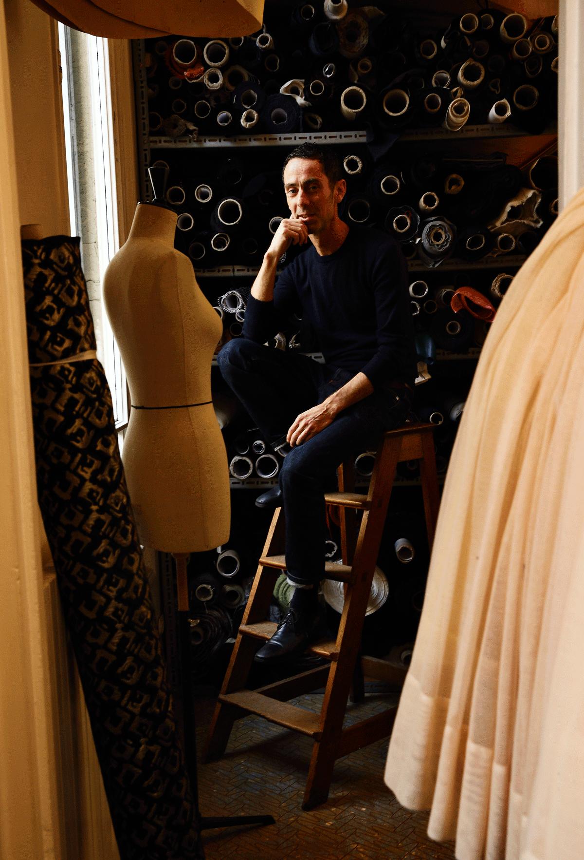 Martin Grant in his Paris Studio