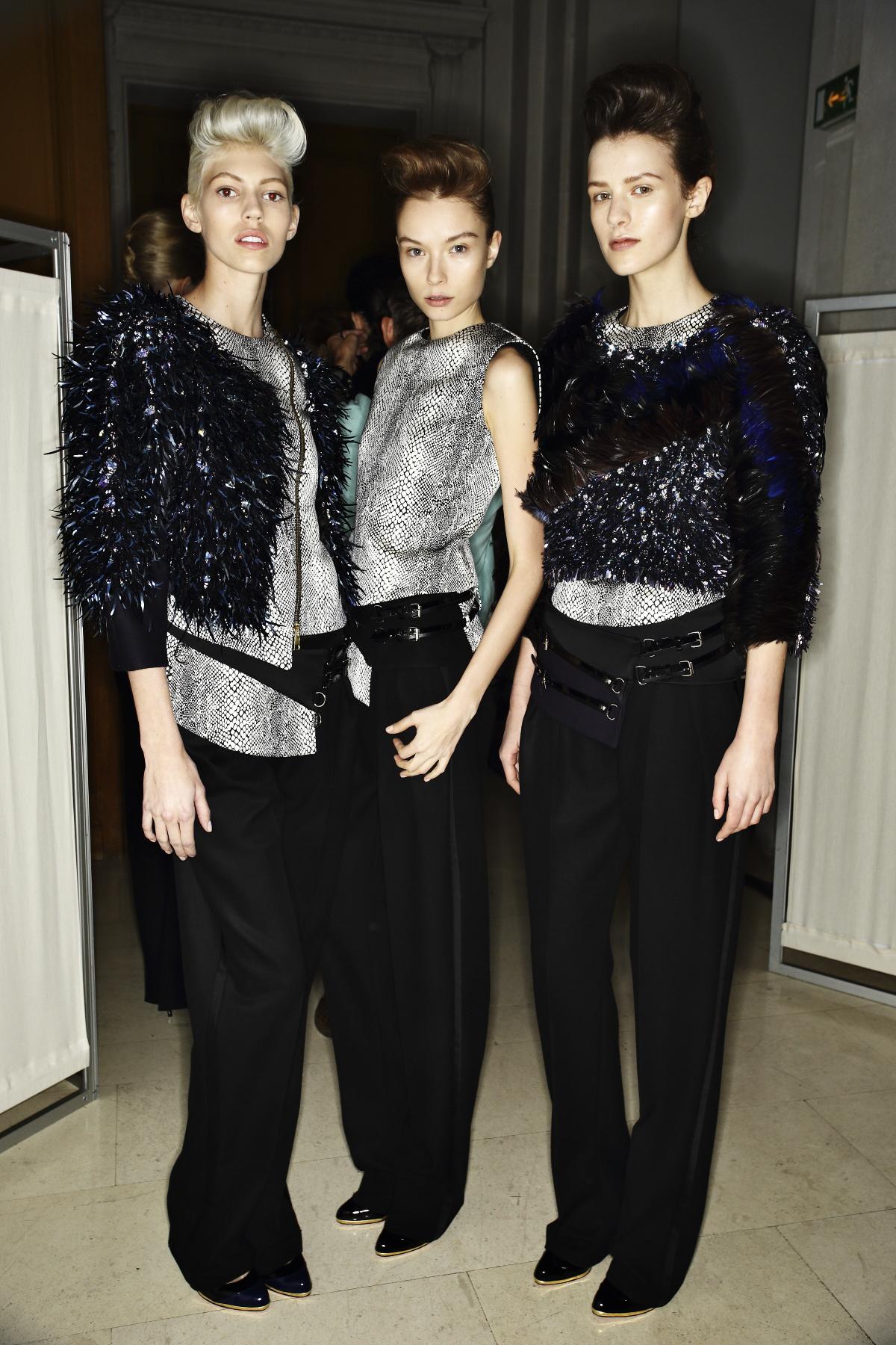 Bouchra Jarrar Haute Couture show Paris Backstage