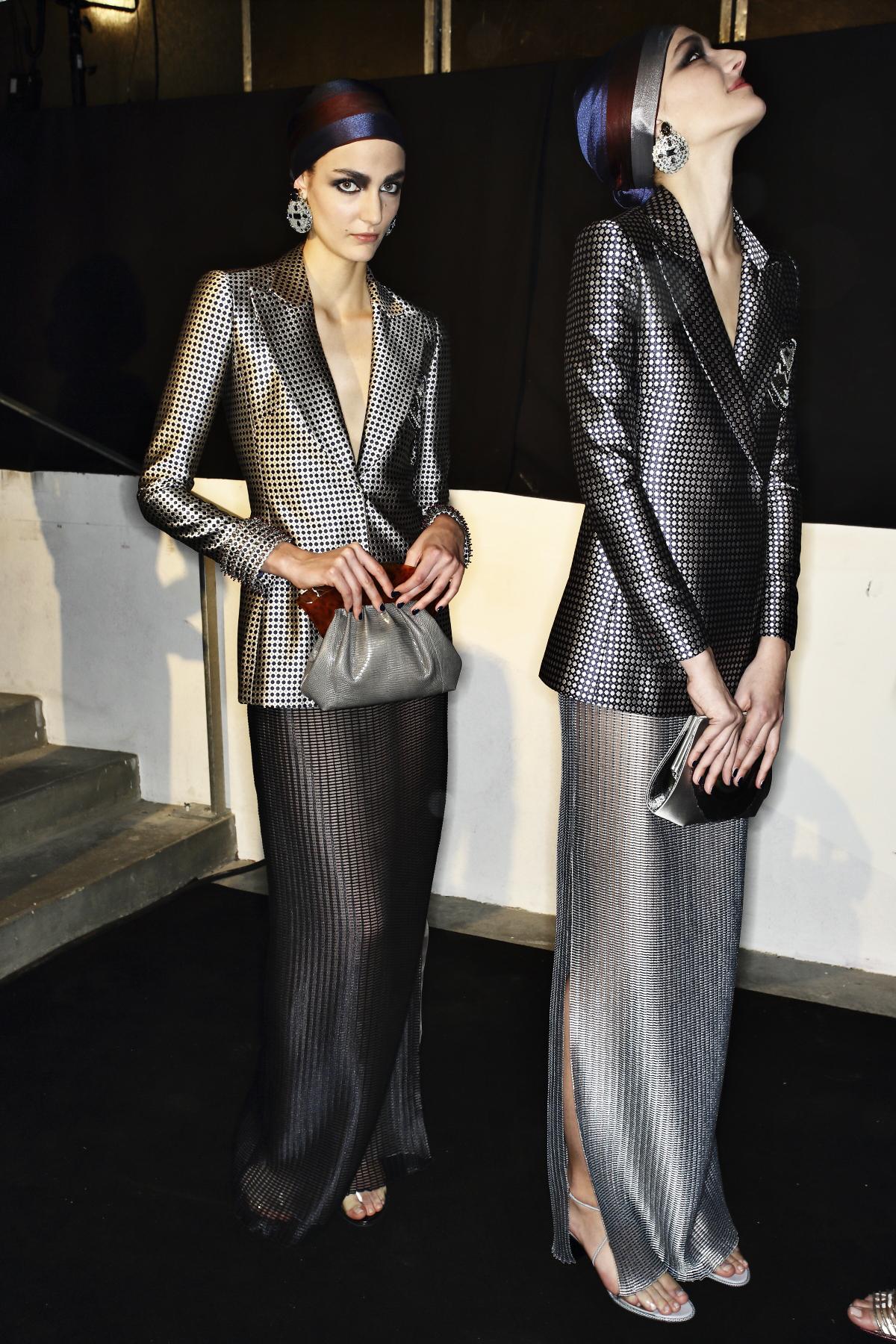 Giorgio Armani Priv� Haute Couture show Paris Backstage