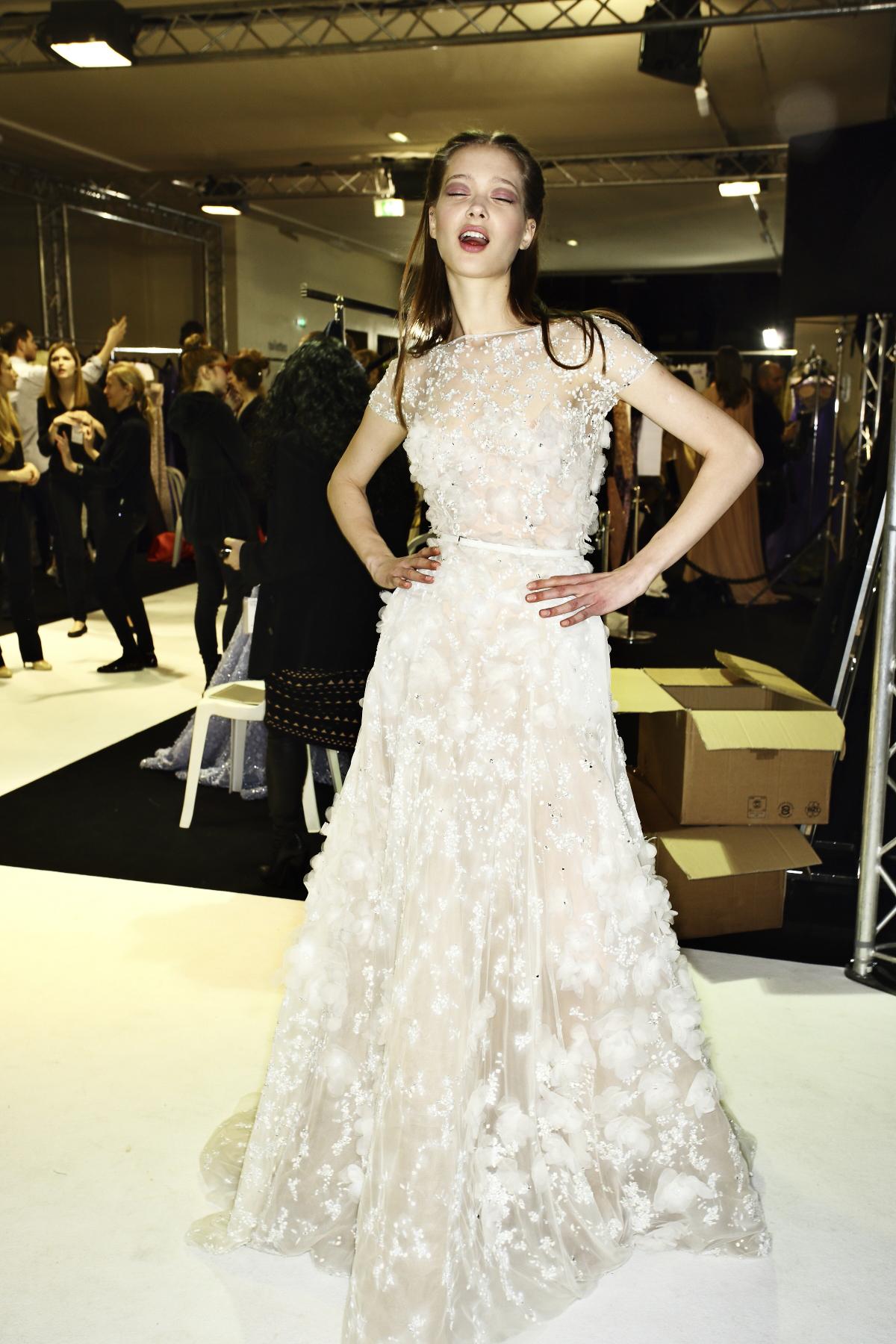 Elie Saab Haute Couture Show Paris Backstage