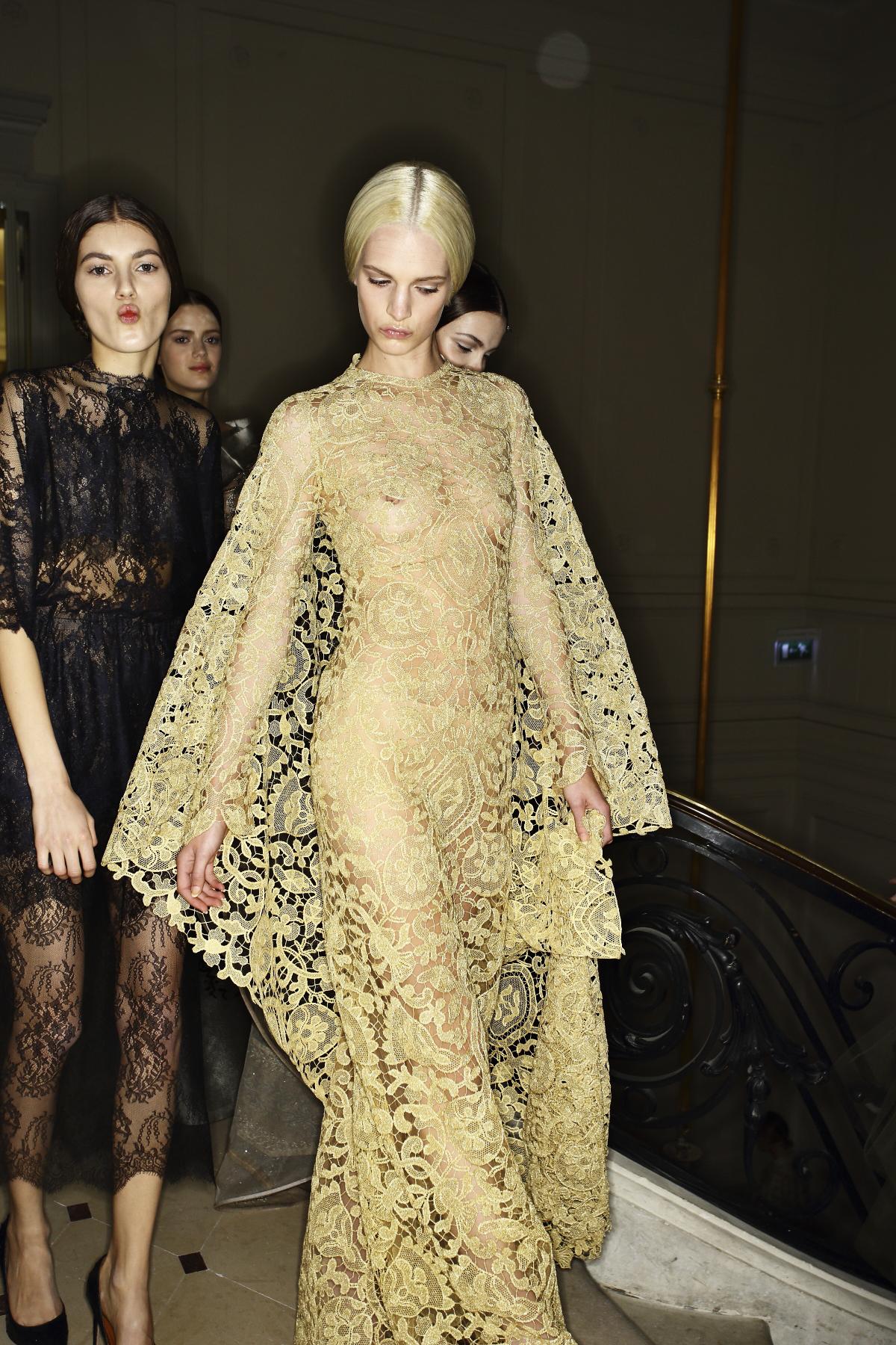 Valentino Haute Couture Fashion Show Paris Backstage