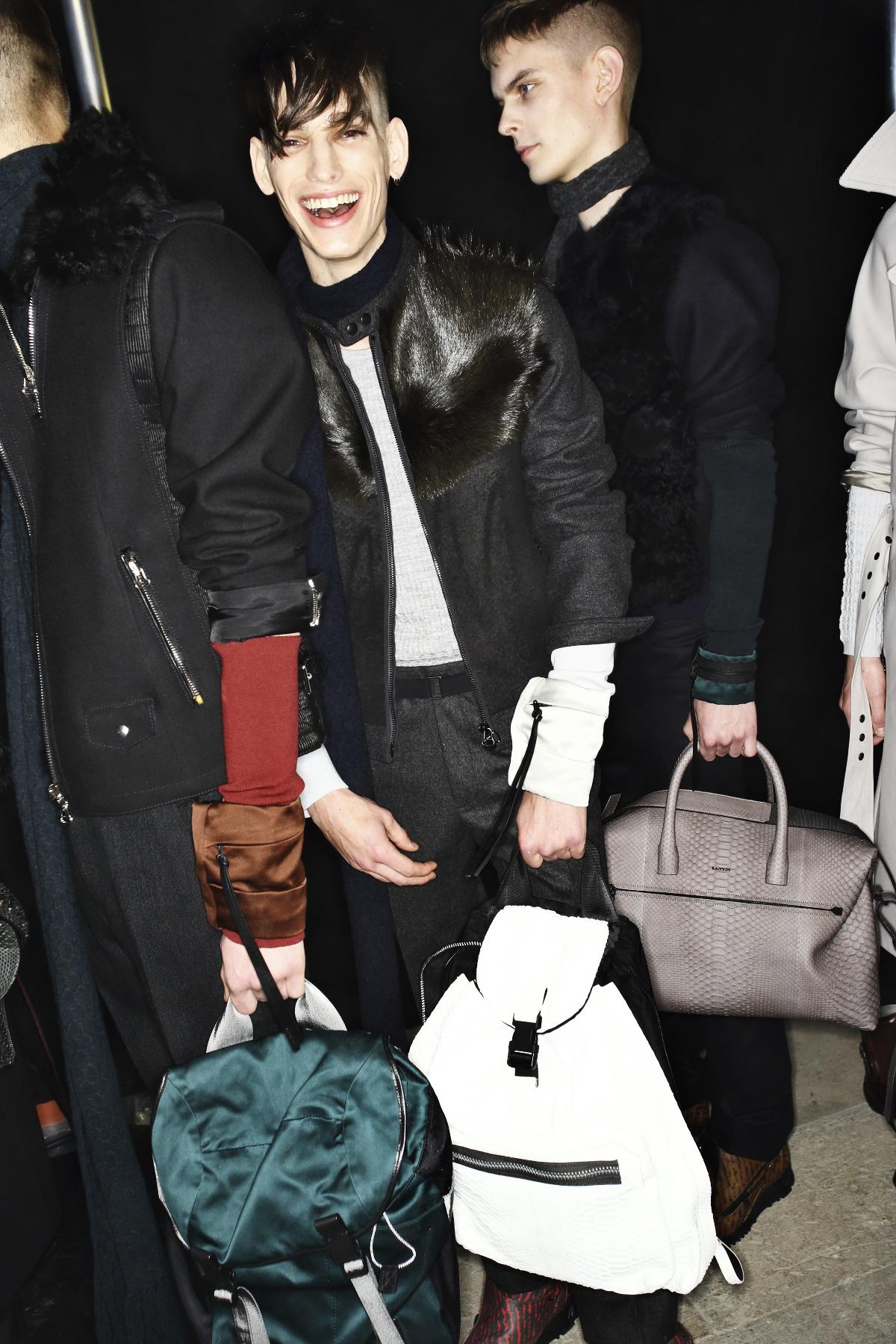 Lanvin AW14-15 Men Fashion Show Paris Backstage