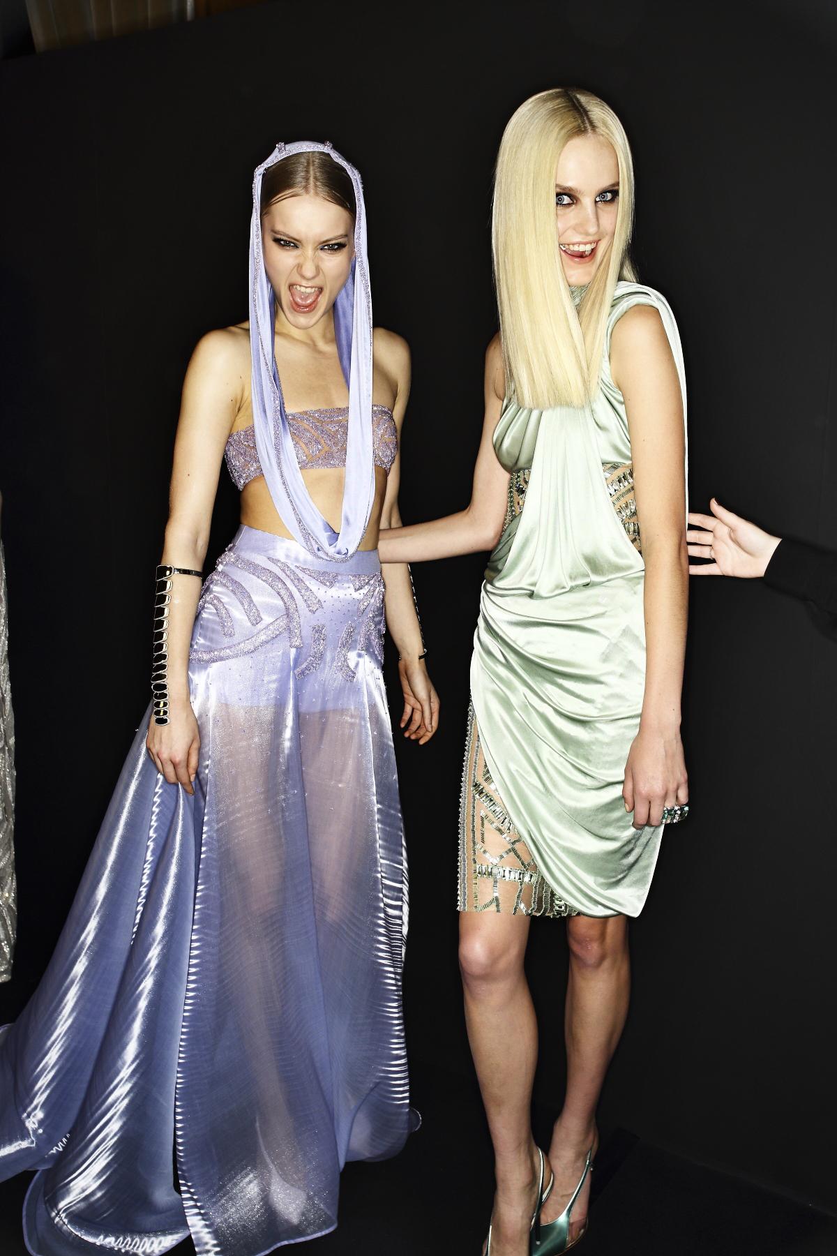 Atelier Versace Haute Couture Show Paris Backstage