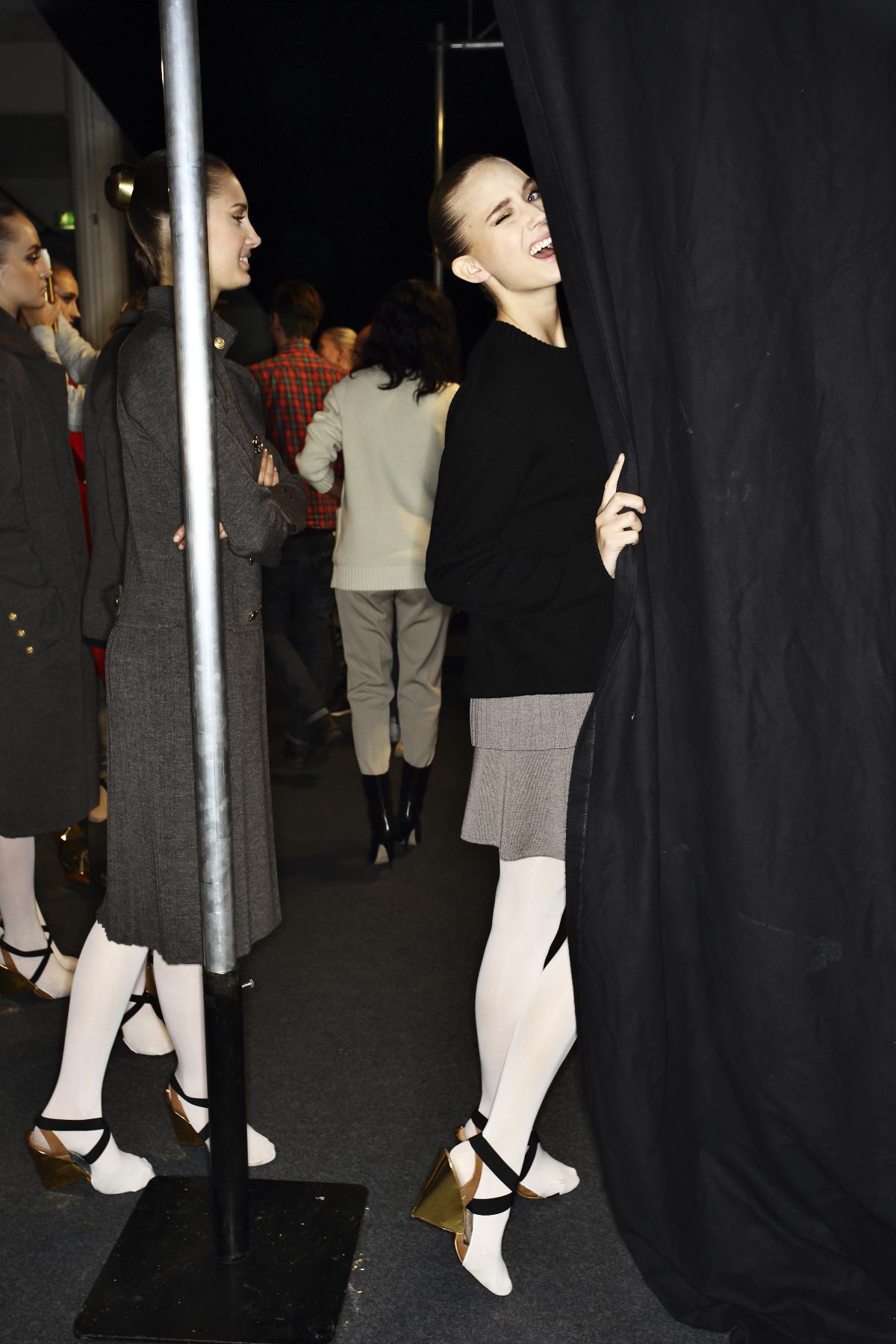 Busnel AW14-15 Fashion Show Stockholm Backstage