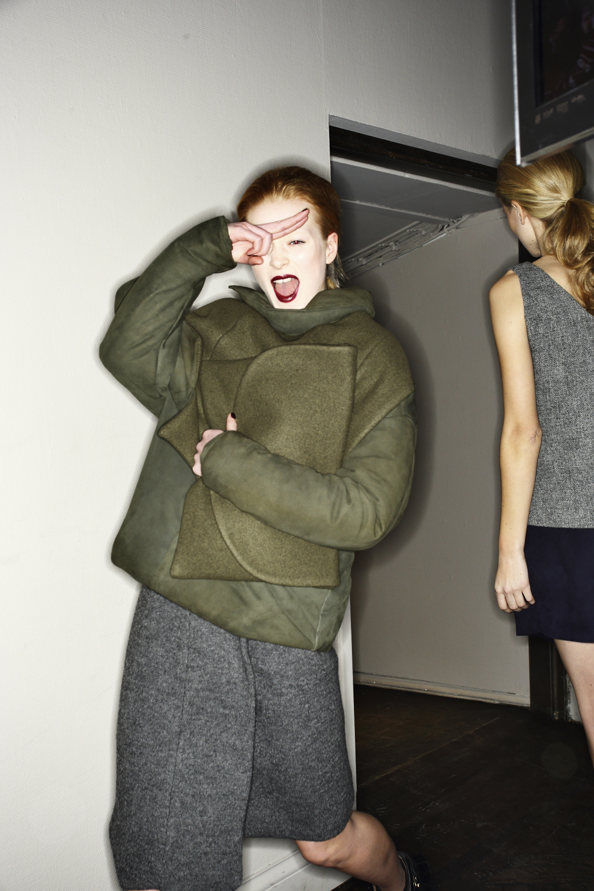 Caroline Kummelstedt AW14-15 Fashion Show Stockholm Backstage
