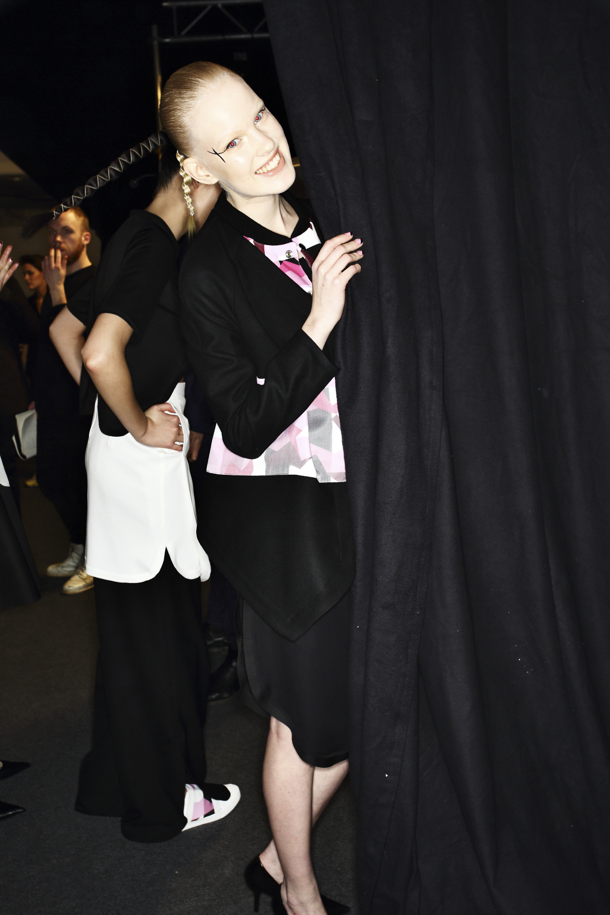 Ida Klamborn AW14-15 Fashion Show Stockholm Backstage - Her first