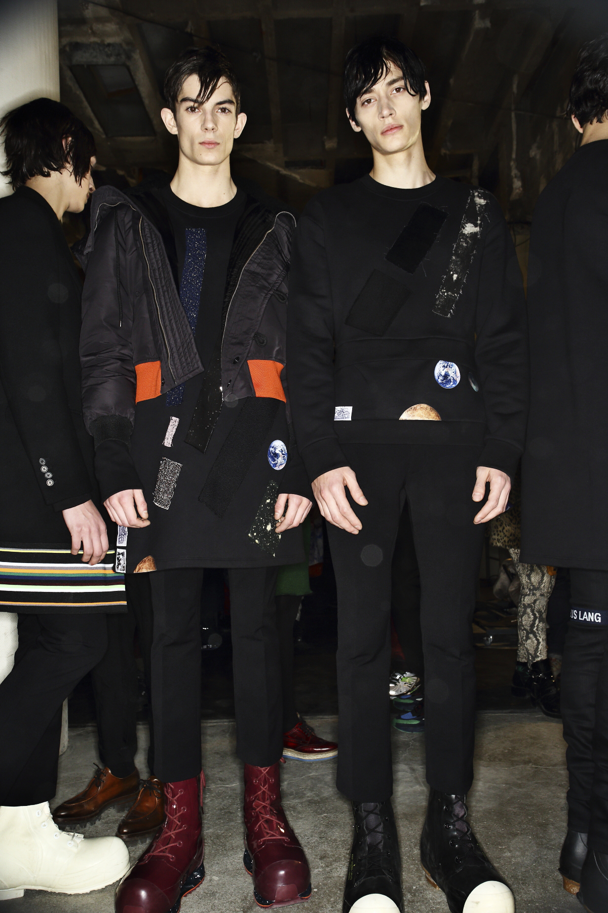 Raf Simons / Sterling Ruby AW14-15 Men Fashion Show Paris Backstage