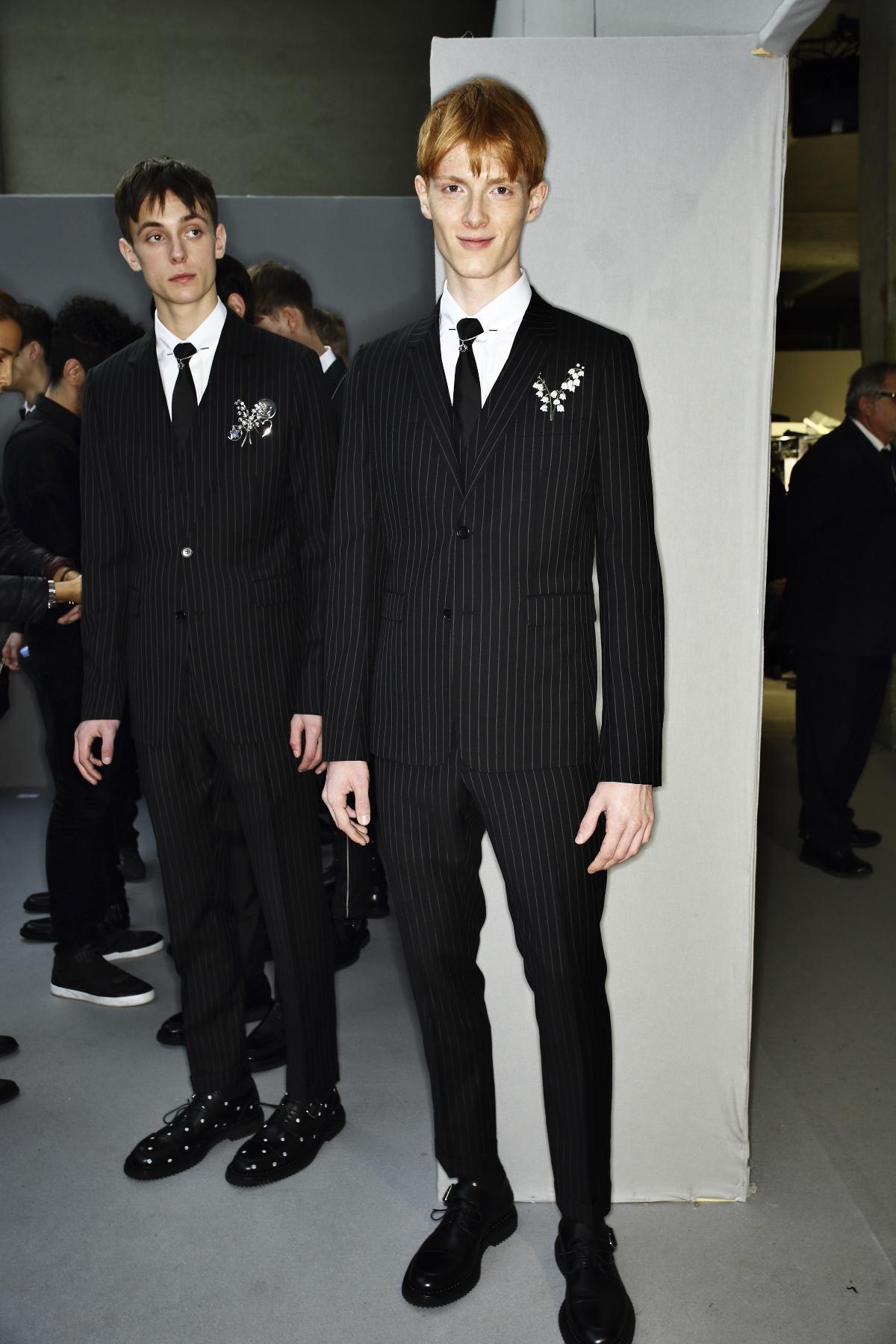 Sonny Vandevelde - DIor Homme AW14-15 Fashion Show Paris Backstage 1b61f8e07c7d