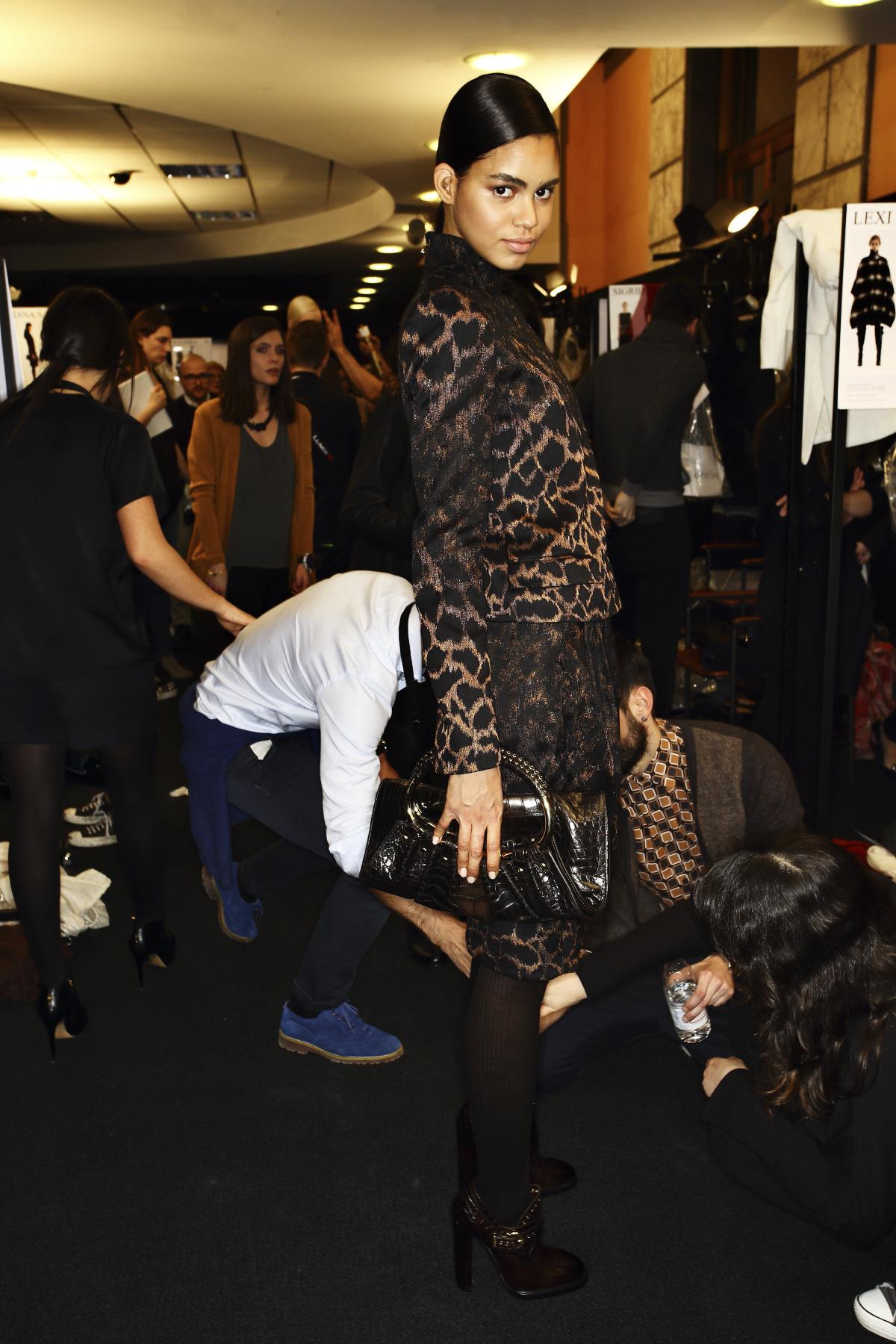 Salvatore Ferragamo AW14-15 Fashion Show Milan Backstage