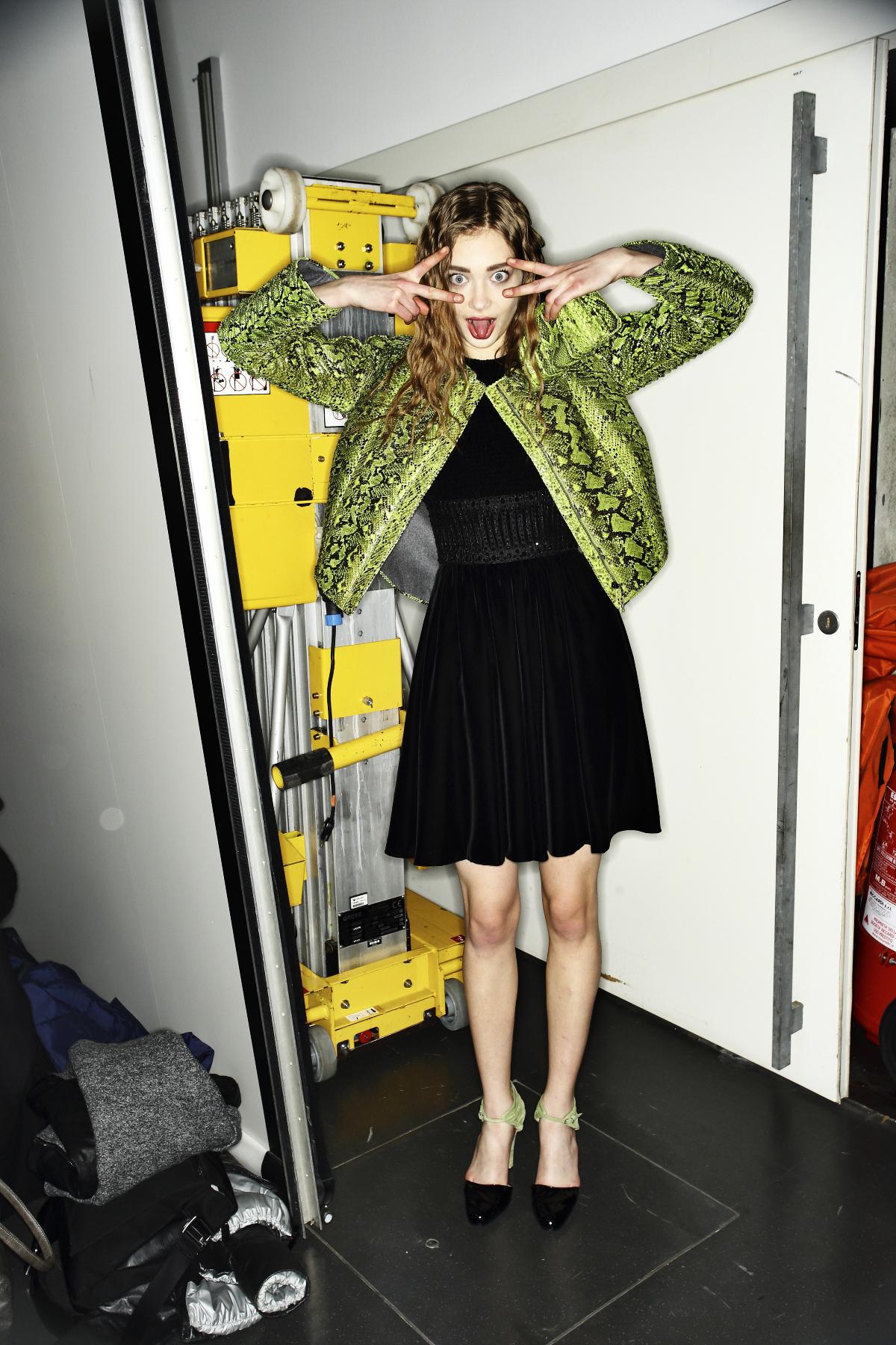 Giorgio Armani AW14-15 Fashion Show Milan Backstage