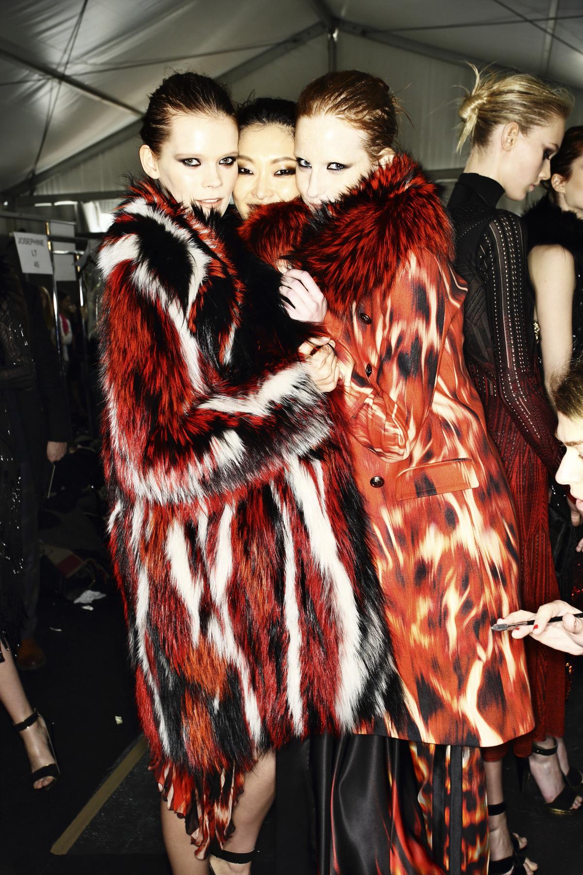 Roberto Cavalli AW14-15 Fashion Show Milan Backstage