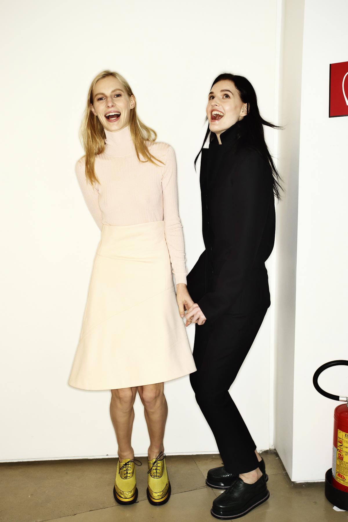 Jil Sander AW14-15 Fashion Show Milan Backstage