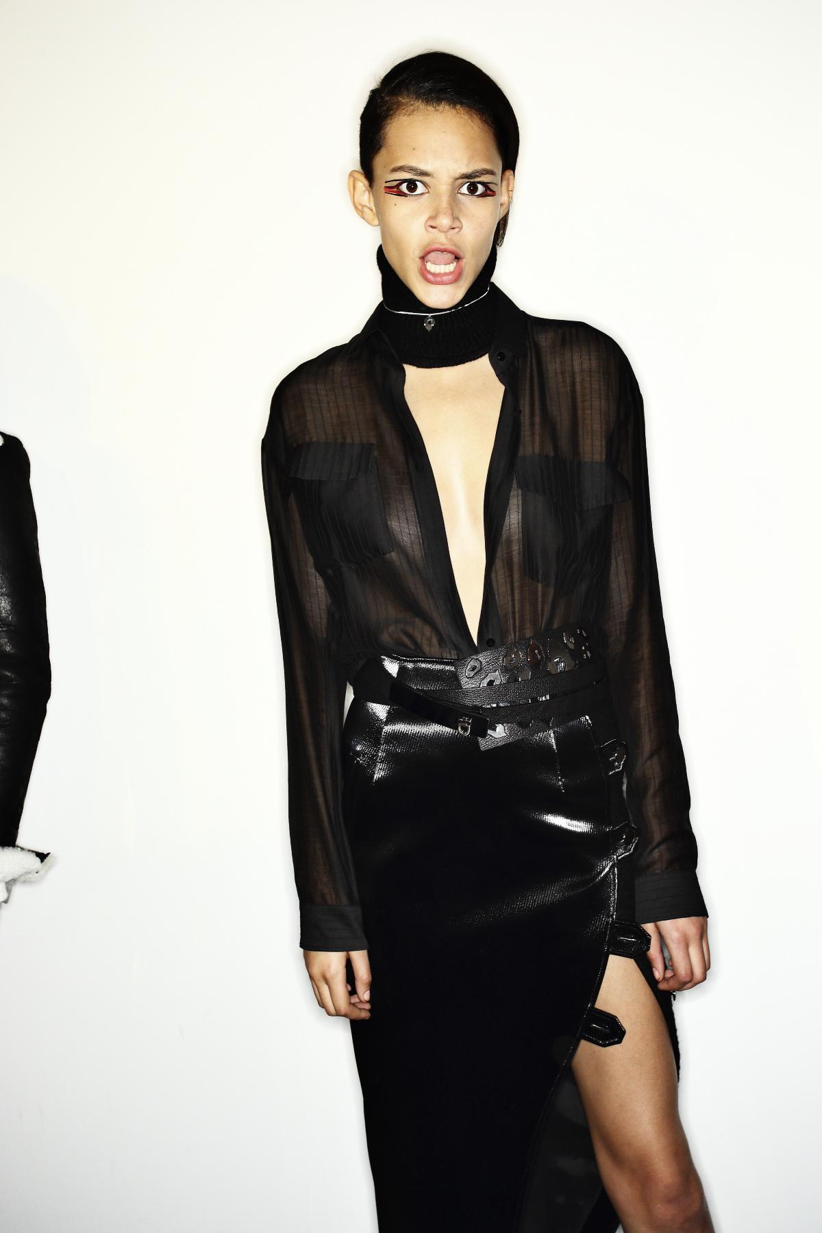 Anthony Vaccarello AW14-15 Fashion Show Paris Backstage