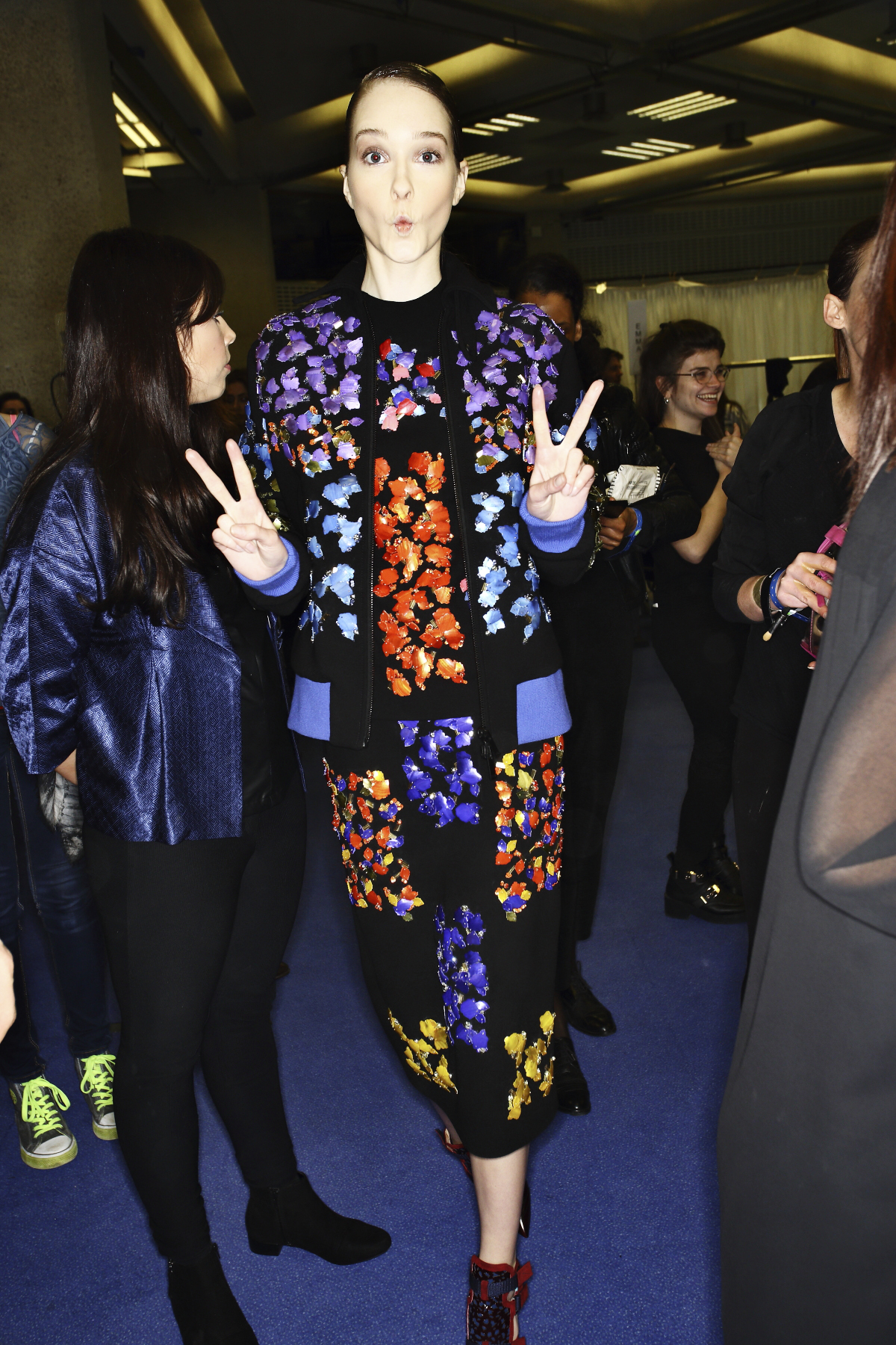 Peter Pilotto AW14-15 Fashion Show London Backstage