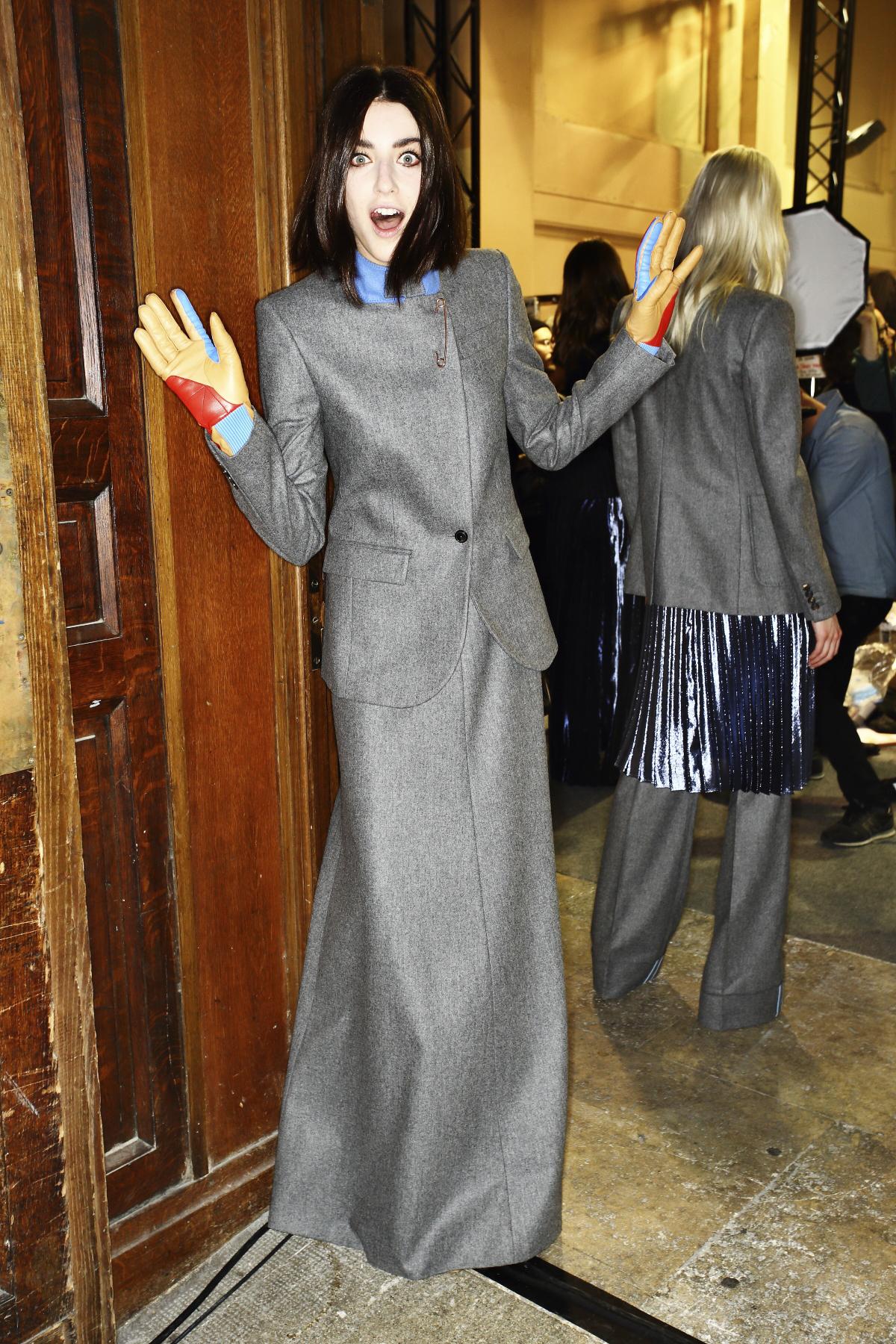 Veronique Branquinho AW14-15 Fashion Show Paris Backstage