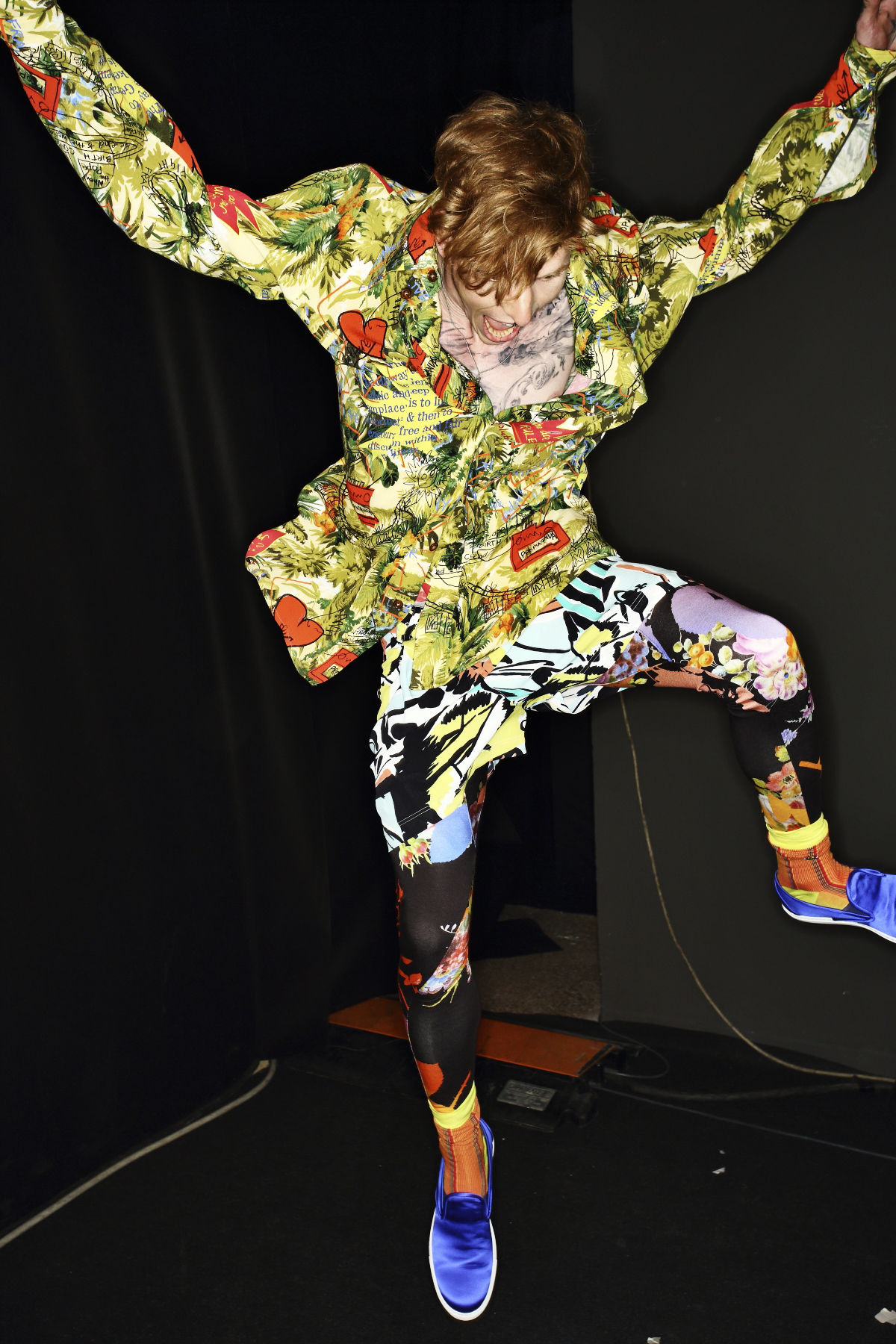 Vivienne Westwood SS15 Men Fashion Show Milan Backstage
