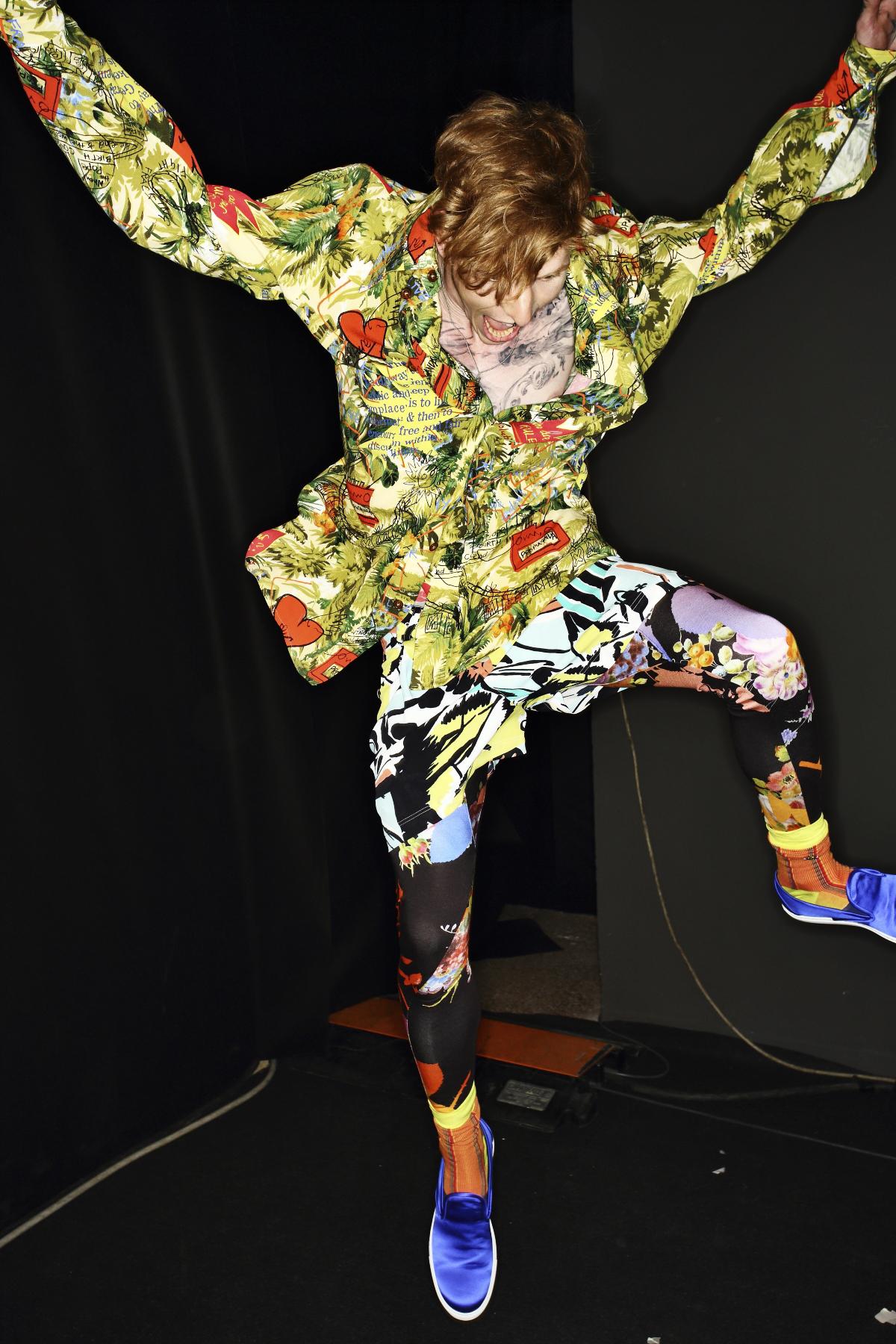Vivienne Westwood SS15 Men Fashion Show Milan Backstage