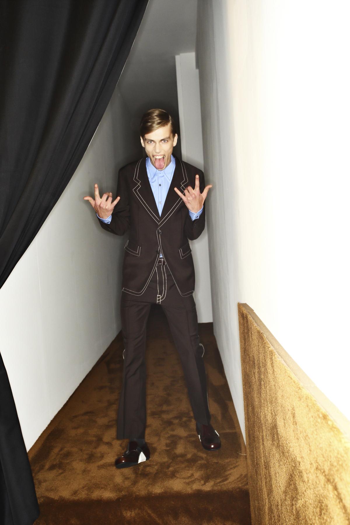 Prada SS15 Men Show Milan Backstage