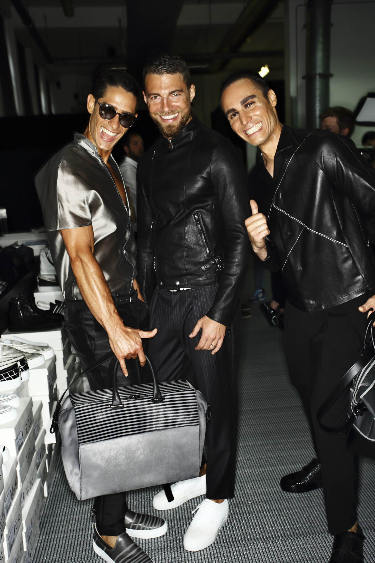 Emporio Armani SS15 Men Fashion Show Milan Backstage
