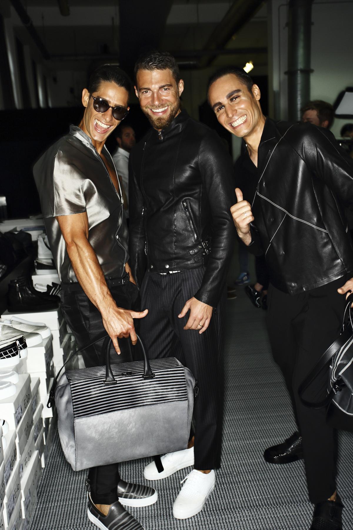Emporio Armani SS15 Men Fashion Show Milan Backstage